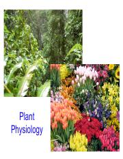 Plant Lectures 1