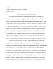 Wuthering Heights Essay