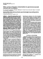 MICR 1531 National Acadamy of Science Article - DNA Vaccines
