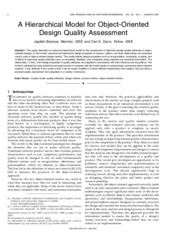 AHierarchicalModelforOODesignQualityAssessment