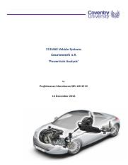 Vehicle Powertrian Analysis - Vehicle Systems.docx