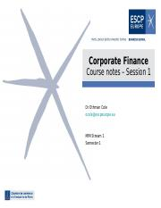 Corporate Finance Slides - Session 1.ppt