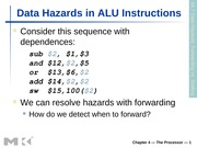Data Hazards & Control Hazards