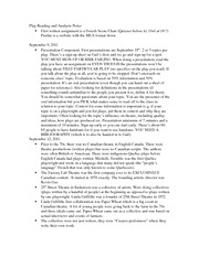 Play Reading and Analysis Notes