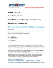 Updated Lead2pass CompTIA SY0-401 Braindump Free Download (401-500).pdf