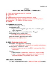 11:ACUTE CARE AND EMERGENCY PROCEDURES