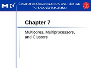 EECS 2110 Chapter 7 Multicores, Multiprocessors, and Clusters