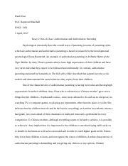 essay on parenting