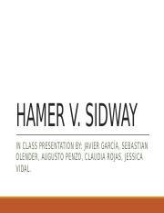 hamer v sidway reflection Case: hamer v sidway plaintiff (appellant) - louisa hamer defendant - franklin sidway (executor of decedent's estate) judgment in favor of plaintiff reversed.