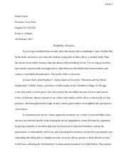 Essay 2: Critique of Monsters and the Moral Imagination.docx