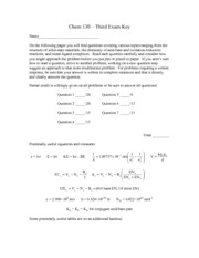 Exam 3 Solutions 2013