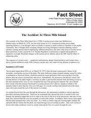 3 mile island fact sheet