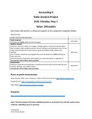 Ratio Analysis Team Project Information.docx