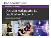 Lecture 4B Decision-making and its practical implications