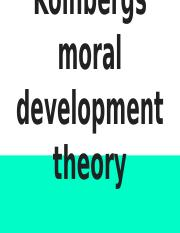 Kolhbergs moral development theory