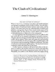 The Clash of Civilizations (Huntington).pdf