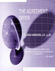 I - THE AGREEMENT - OFFER.ppt