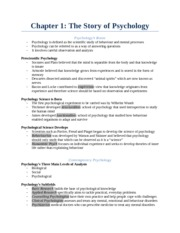 Chapter 1 - The Story of Psychology