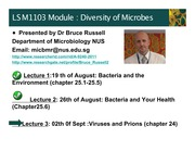 Microbiology 3 - Viruses and Prions