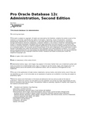 Pro Oracle Database 12c Administration Introduction