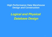 2- Logical and Physical Data Modeling