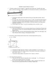 Sample Problems for Exam 2