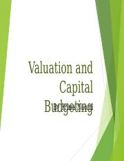 Value and Capital Budgeting  3.ppt