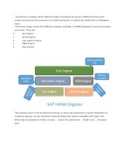HANA Engines.docx