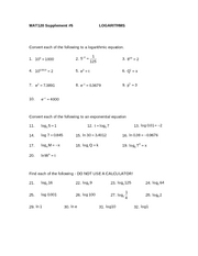 Supplement_5_Logarithms_Supplement