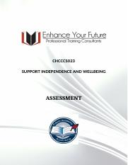 2. CHCCCS023 SUPPORT INDEPENDENCE AND WELLBEING.docx