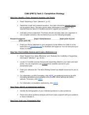 Task 1 Completion Strategy docx - C464(FBT1 Task 1 Completion