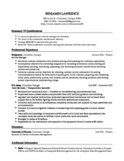 Lawrence's Resume