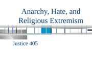 Anarchy Hate and religious extremism