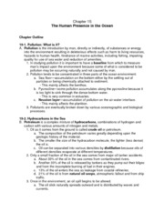 Chapter 15 Outline Human Presence