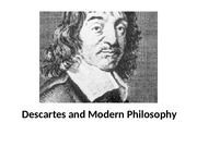 3) Descartes and Modern Philosophy