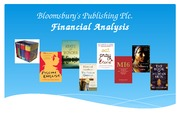 International Accounting and Finance- Assignment: Bloomsbury Presenation
