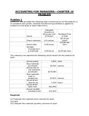 ACCOUNTING FOR MANAGERS CHAPTER 10 PROBLEM.rtf
