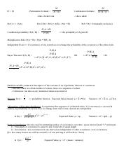 Statistics formula sheet for exam 2