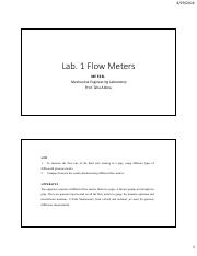 Lab 1 Flow Meters(1)