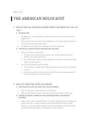 The American Holocaust Notes.docx