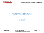 Lecture 09 - Switch Case Structures - 08