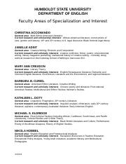 Faculty Areas of Specialization Fall 2015.doc