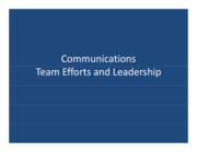 Communications and Leadership