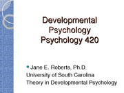 Developmental Theories Lecture 2