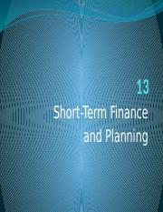 13+Short-Term+Finance+and+Planning