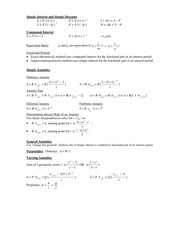 Course Pack ActurSci2053 A Class Notes Formula Page