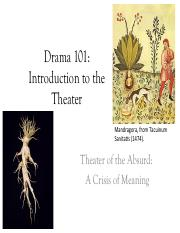 101-Lecture 13-Theatre of the Absurd-15 Feb. 2017