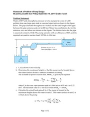 Homework 3 Problem 6 Pump Design