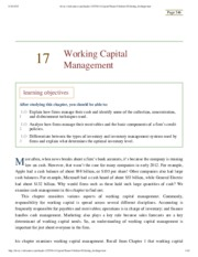 Chapter 17 – Working Capital Management