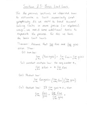 Section 2.3 Basic Limit Laws